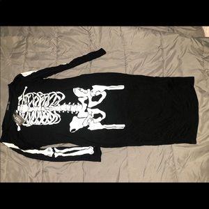 🎃💀Boohoo plus long sleeve skeleton midi dress🎃